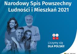 Na zdjciu baner Narodowego Spisu Powszechnego Ludności i Mieszkań